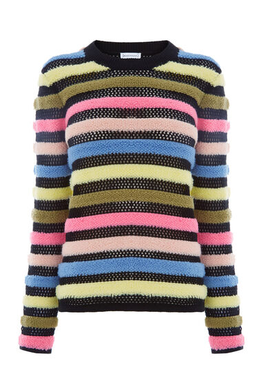 Warehouse, MESH STRIPE JUMPER Multi 0