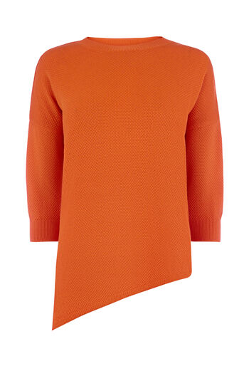 Warehouse, STITCHY DISPLACED HEM JUMPER Orange 0