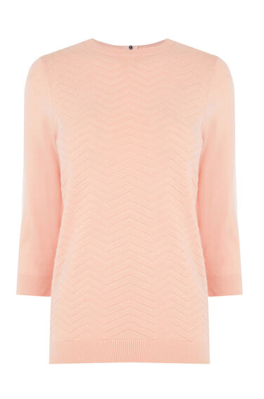 Warehouse, CHEVRON STITCH JUMPER Light Pink 0