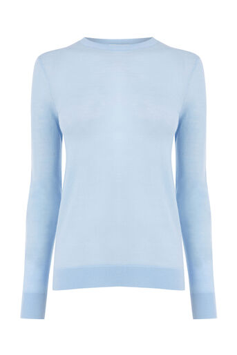 Warehouse, WOOL CREW JUMPER Bright Blue 0
