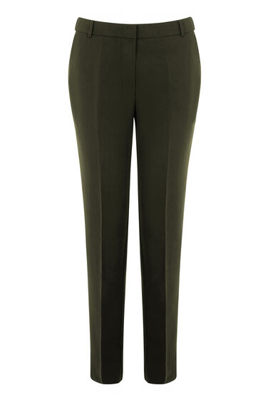 Warehouse, SLIM LEG TROUSERS Dark Green 0