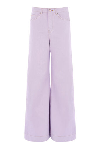 Warehouse, Jean coupe super large Lilas 0