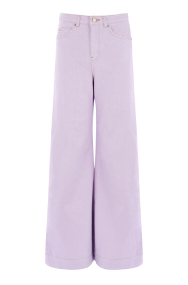 Warehouse, Super Wide Cut Jeans Lilac 0