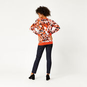 Warehouse, ANIMAL STAMP JACQUARD JUMPER Red Pattern 3