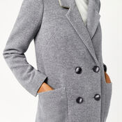 Warehouse, Silk Mix Long Line Crombie Dark Grey 4