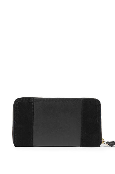 Warehouse, SUEDE AND LEATHER PURSE Black 0