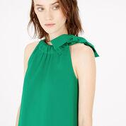 Warehouse, BOW DETAIL HALTERNECK DRESS Bright Green 4