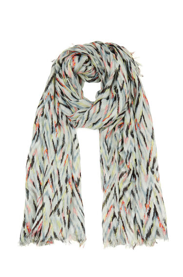 Warehouse, Zig Zag Print Scarf Multi 0