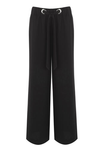 Warehouse, EYELET TROUSERS Black 0