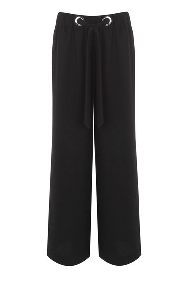 Warehouse, EYELET TROUSER Black 0