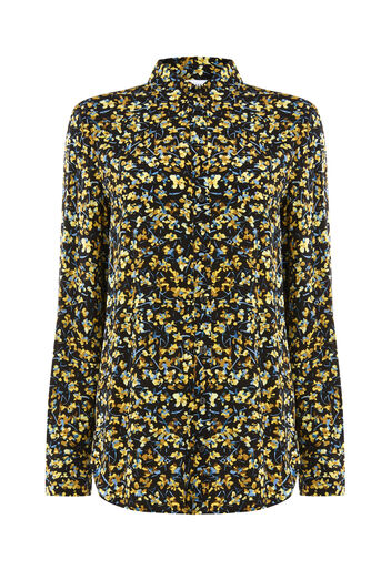 Warehouse, MINI MARIGOLD SHIRT Black Pattern 0