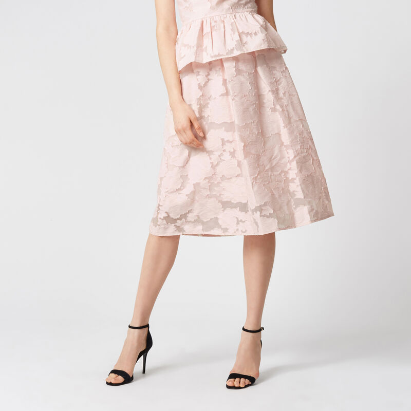 Warehouse, BURN OUT PROM SKIRT Light Pink 1