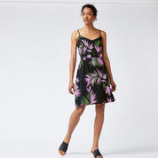 Warehouse, GRAPHIC PALM STRAPPY DRESS Blue Pattern 2