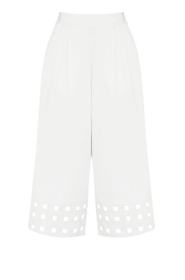Warehouse, Square Cutwork Culotte White 0