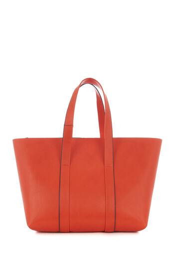 Warehouse, Met banden afgewerkte shopper Oranje 0