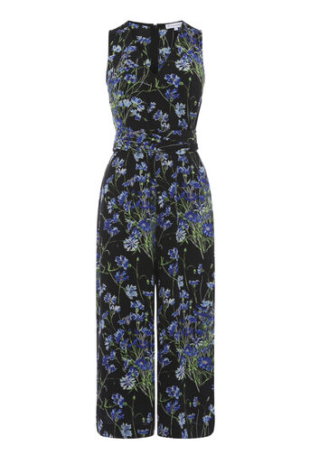 Warehouse, FULL BLOOM JUMPSUIT Black 0