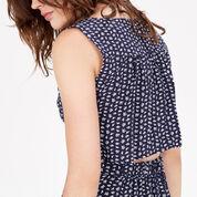 Warehouse, SQUIGGLE PRINT OPEN BACK DRESS Blue Pattern 4