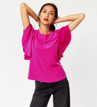 Warehouse, RUFFLE TOP Bright Pink 4