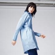 Warehouse, TIE WAIST SHIRT DRESS Light Blue 1