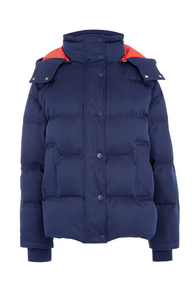 Warehouse, Fashion Padded Coat Navy 0