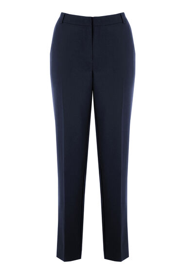 Warehouse, SLIM LEG TROUSERS Navy 0