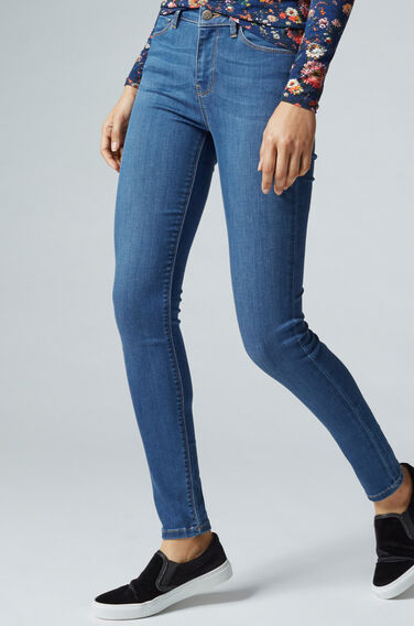 Warehouse, The Skinny Cut Jeans Mid Wash Denim 1