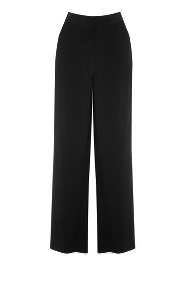 Warehouse, CONTRAST PIPED TROUSER Black 0