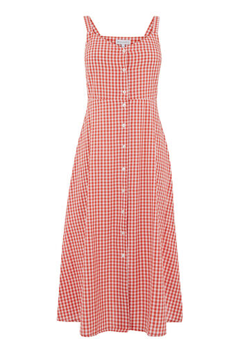 Warehouse, RED GINGHAM DRESS Red Pattern 0