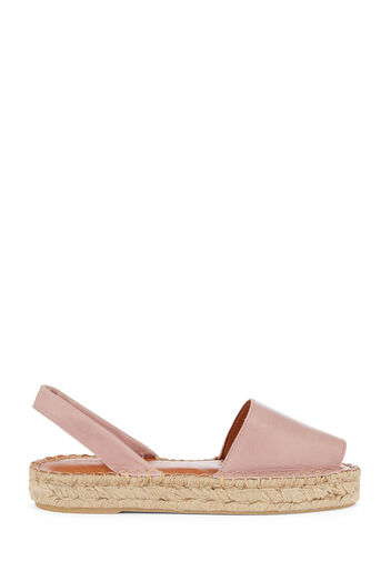 Warehouse, 2 PART ESPADRILLE SANDAL Light Pink 0