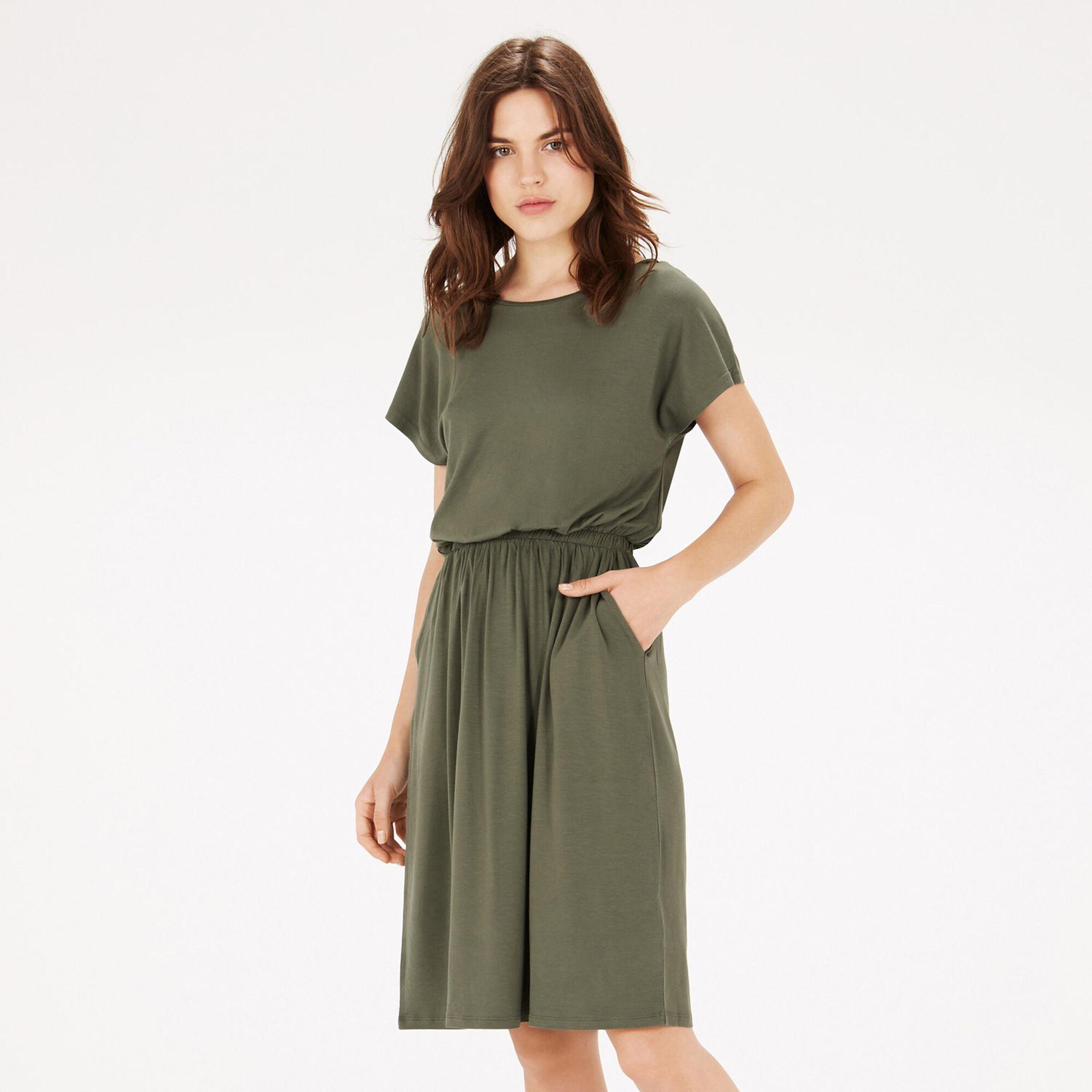 Warehouse, T SHIRT DRESS Khaki 1