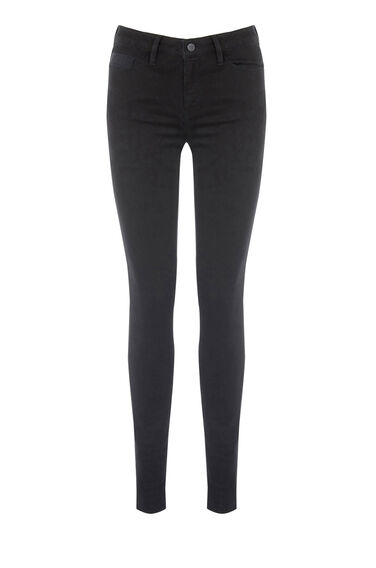 Warehouse, Powerhold Skinny Jean Black 0