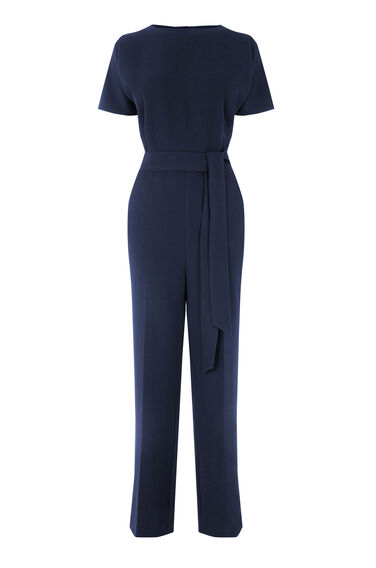 Warehouse, STRAIGHT LEG JUMPSUIT Navy 0