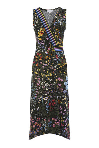 Warehouse, WILD GARDEN RAINBOW DRESS Multi 0