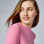 Warehouse, WOOL CREW JUMPER Bright Pink 4