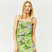 Warehouse, TIGER PRINT CAMI Green Print 4