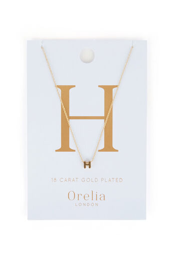 Warehouse, ORELIA INITIAL NECKLACE H Gold Colour 0
