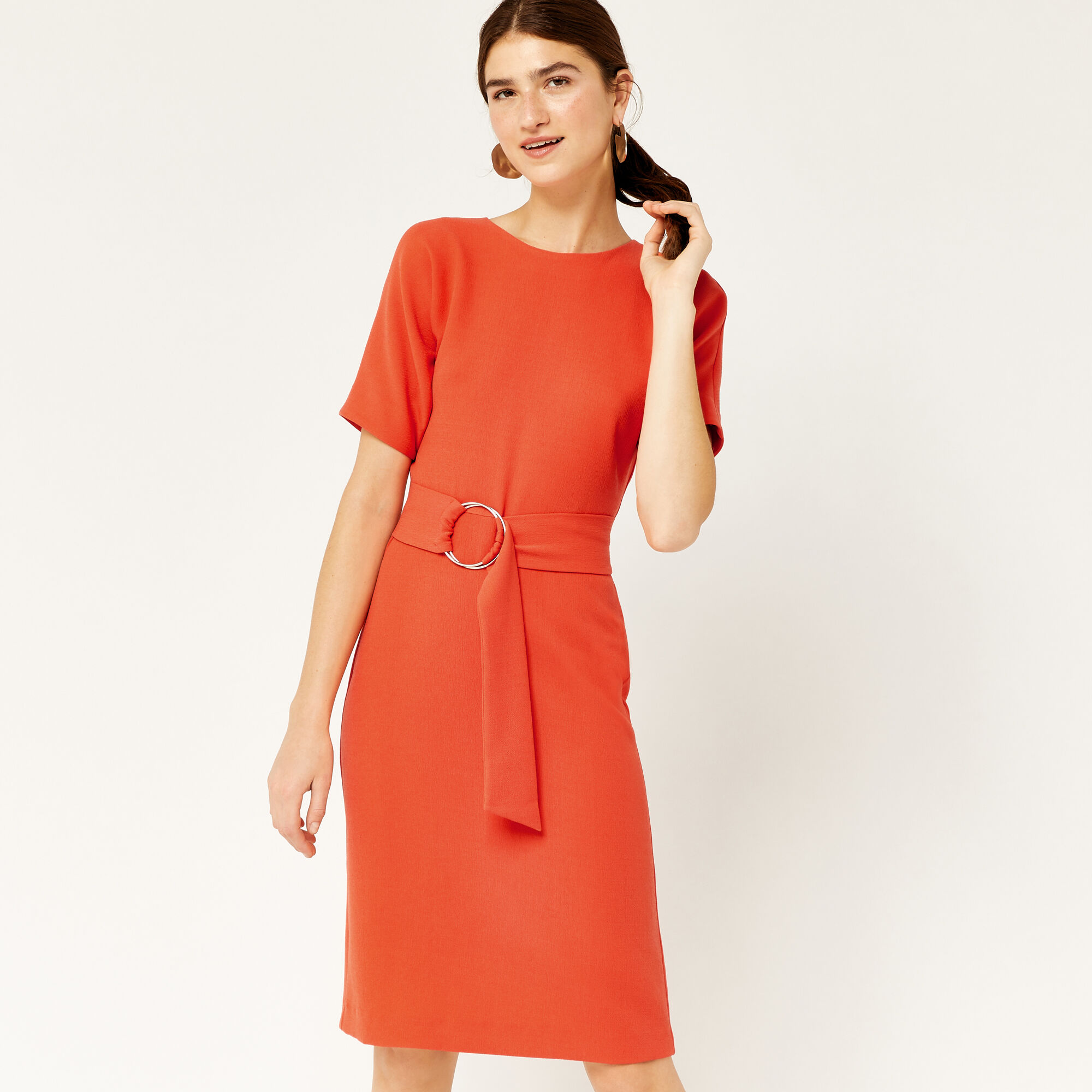 Warehouse, O RING DRESS Orange 1