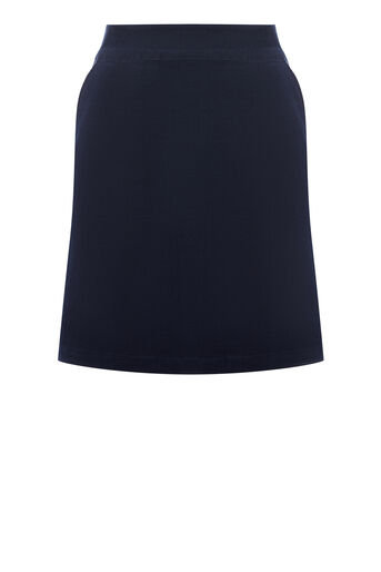 Warehouse, CORD PELMET SKIRT Navy 0