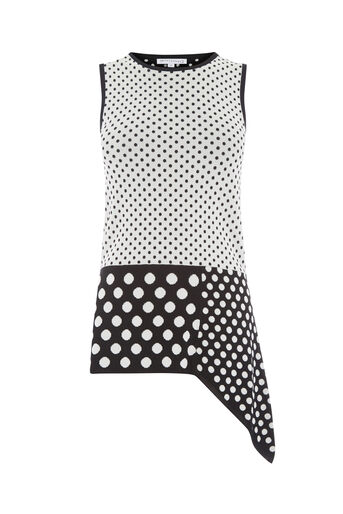 Warehouse, POLKA DOT VEST Black Pattern 0