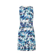 Warehouse, Shadow Leaf Textured Dress Multi 0