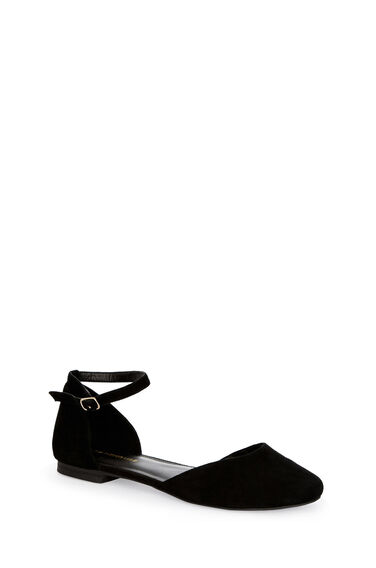 Warehouse, Rounded Ballet Pump Black 0