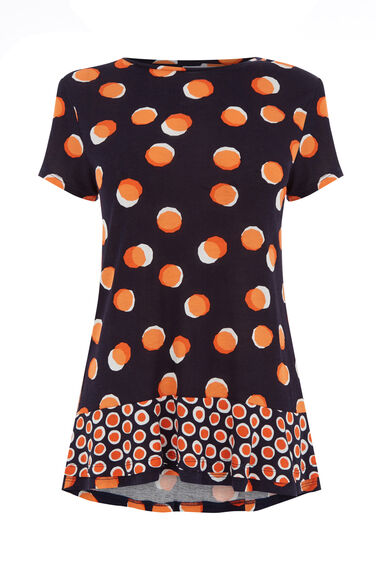 Warehouse, TOFFEE PENNY PRINT TEE Multi 0