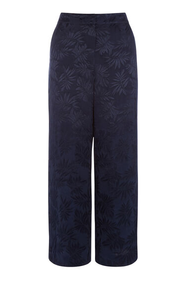 Warehouse, LEAF JACQUARD CULOTTES Navy 0