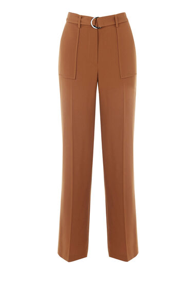 Warehouse, STRAIGHT LEG TROUSERS Tan 0