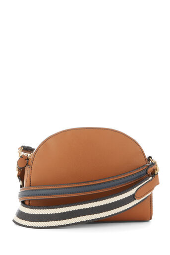 Warehouse, DOUBLE STRAP CROSSBODY BAG Tan 0