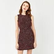Warehouse, VICTORIA TWEED DRESS Bright Red 3