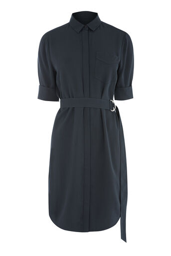 Warehouse, CASUAL SHIRT DRESS Navy 0