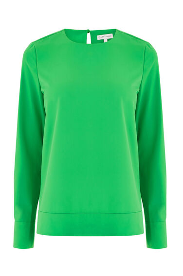 Warehouse, DIPPED HEM TOP Bright Green 0