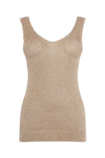 Warehouse, METALLIC VEST Gold Colour 0