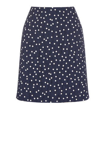 Warehouse, CRINKLE SPOT SKIRT Blue Pattern 0